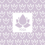 Stylized Lotus Violet Yoga Studio Design Card