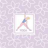 Triangle Pose Yoga Studio Design Card