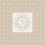 Om In Frame Yoga Studio Design Card
