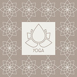 Abstract Lotus Flower Yoga Studio Design Card