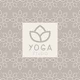 Simplified Lotus Yoga Studio Design Card