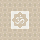 Classic Om Yoga Studio Design Card