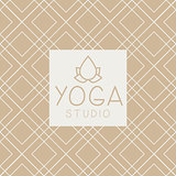 Lotucs And Text Yoga Studio Design Card