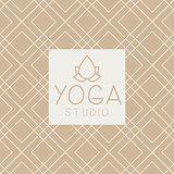 Lotucs And Text Yoga Studio Design Card