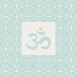 Om Blue Yoga Studio Design Card