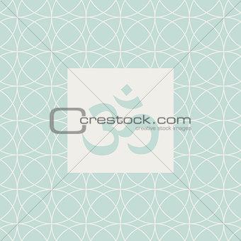 Om Blue Yoga Studio Design Card
