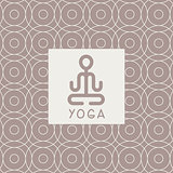 Abstract Lotus Pose Yoga Studio Design Card
