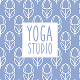 Text Yoga Studio Design Card