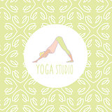 Dog Downwards Pose Yoga Studio Design Card