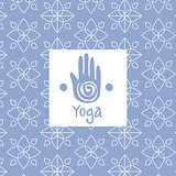 Hand  Image Yoga Studio Design Card
