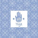 Hand  Image Yoga Studio Design Card