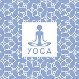Abstact Person Blue Yoga Studio Design Card