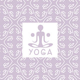 Abstract Figure Violet Yoga Studio Design Card