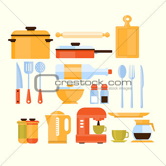 Kitchen Equipment Collection Of Icons