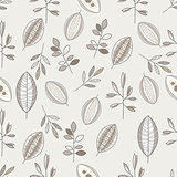 Seamless Leaf Hand Drawn Pattern