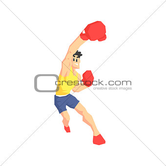 Boxer Attacking Vector Illustration