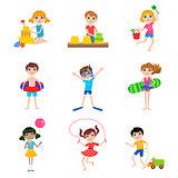 Kids On Summer Vacation Set