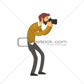 Beardy Man Taking Photo