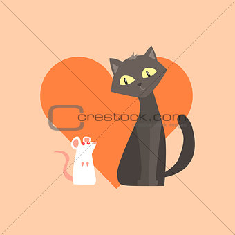 Cat And Mouse Friendship Image