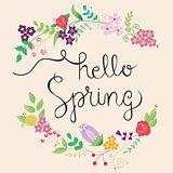 Cute spring frame