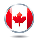 Vector flag button Canada