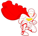 WhiteRed Superhero