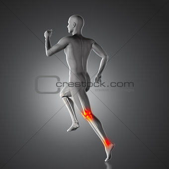 3D medical figure running