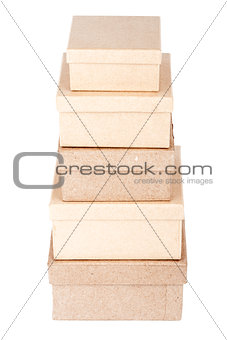 Cardboard box tower