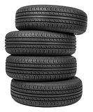 Column of tires