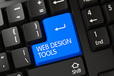 Keyboard with Blue Button - Web Design Tools.
