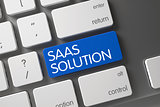 Blue Saas Solution Button on Keyboard.