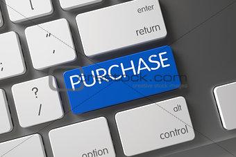 Blue Purchase Keypad on Keyboard.