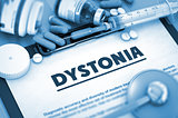 Dystonia. Medical Concept.