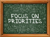 Focus on Priorities - Green Chalkboard.