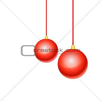 Christmas balls. Vector