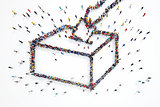 3D rendering of people elections