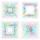 Vector mosaic square halftone backgrounds