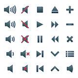 Media icons, vector illustration.