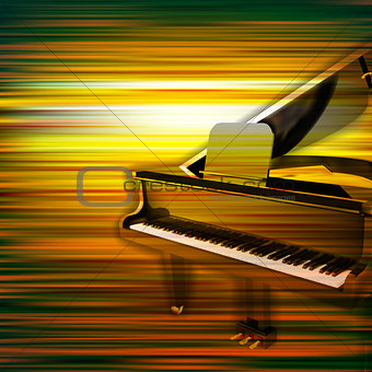 abstract grunge piano background with grand piano