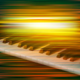abstract grunge music background with piano