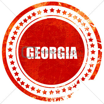 Greetings from georgia, grunge red rubber stamp on a solid white