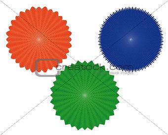 three geometric figures of