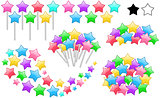 Colorful Stars On Sticks Set