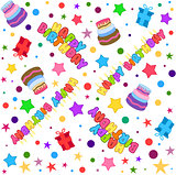 Happy Birthday Pattern Colorful