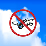 sign forbidding flight drone.