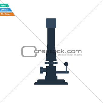 Flat design icon of chemistry burner