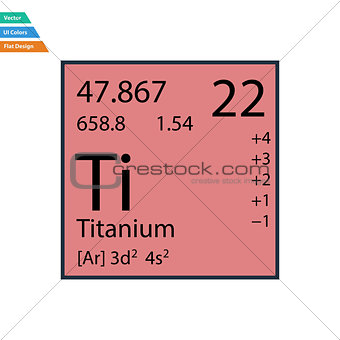 Flat design icon of chemistry element