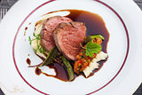 Veal fillet with vegetable ratatouille