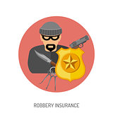 Robbery Insurance Flat Icon