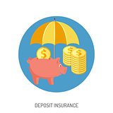 Deposit Insurance Flat Icon